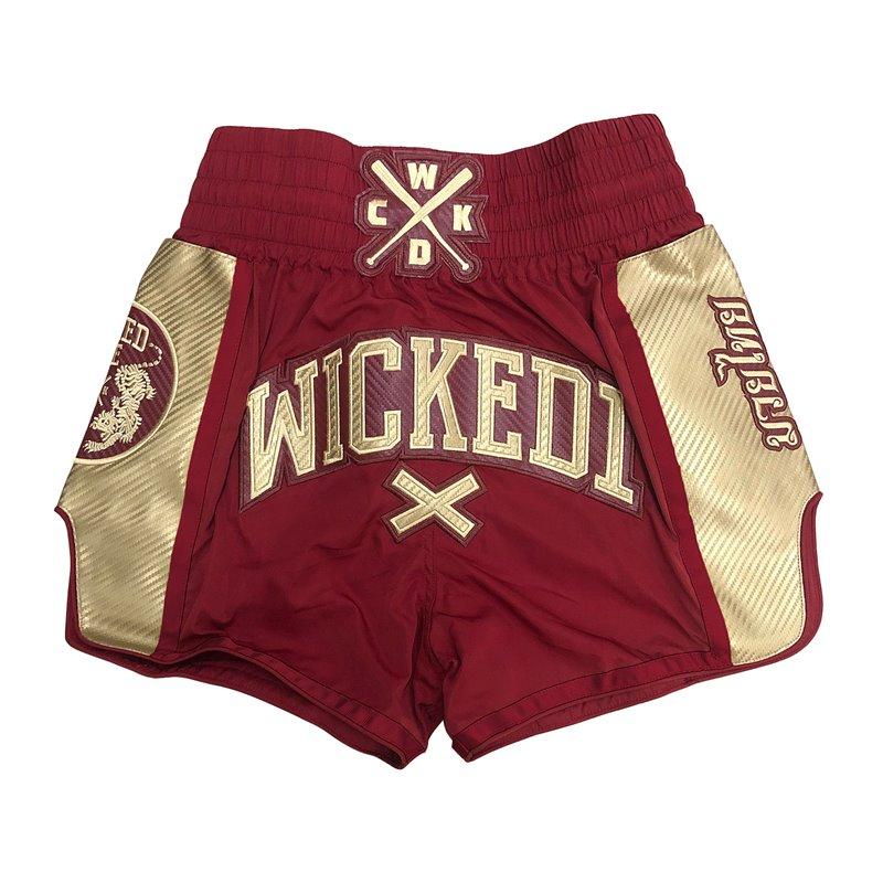 Short Muay-thai et Kick WickedOne Shinning Rouge