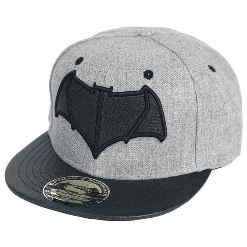 Casquette Superman grise marquage noir