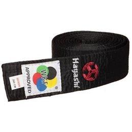 Ceinture de karate Hayashi coton noire