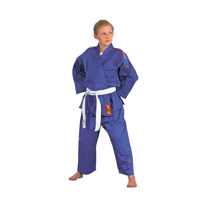 Kimono Judo Danrho grain de riz 350gr/m²  yamanashi bleu