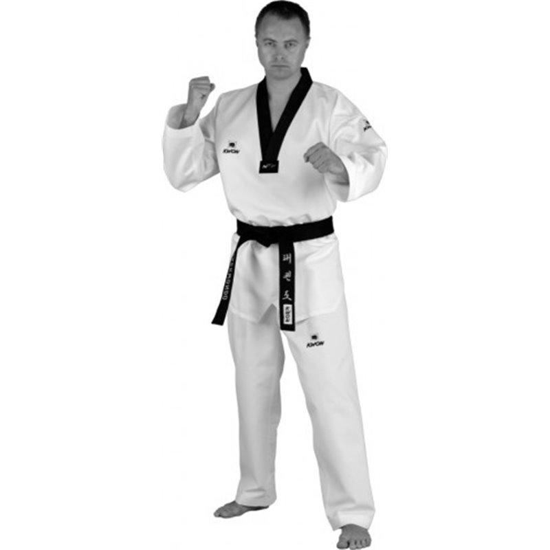 Dobok taekwondo Kwon competition Korea col noir