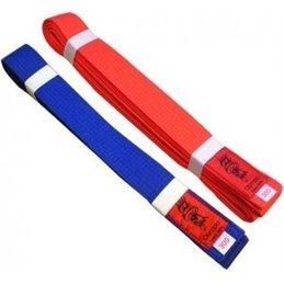 Lot 2 ceintures Kamikaze rouge et bleu