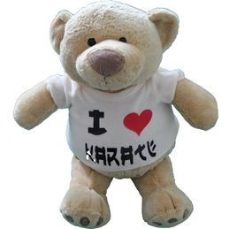 Peluche ours I love Karate 35 cm