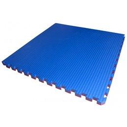 Tatami / Tapis emboitable 4 cm epaisseur rouge/bleu vendu par 1 x 1 m