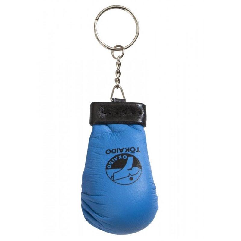 Porte clé mini mitaine Karaté tokaido bleu