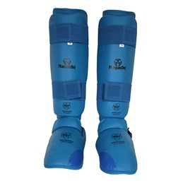 Protege tibias et pieds amovible gel Hayashi WKF bleu