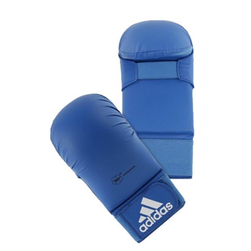 Mitaines karate Adidas WKF sans pouce Bleu