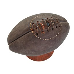 Mini Ballon RUGBY vintage collection cuir Marron