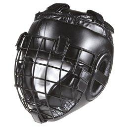 Casque Metal boxe spécial combat extrême à grille noir