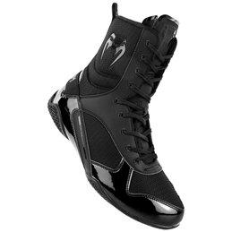 Chaussures de boxe Anglaise Venum Elite montantes Noir/noir