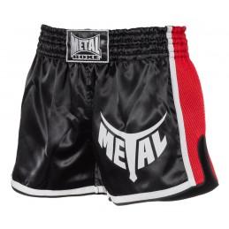 Shorts Kick Metal Boxe noir/rouge